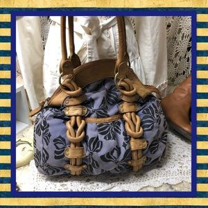 Lucky Brand Fabric & Leather Shoulder Bag USED